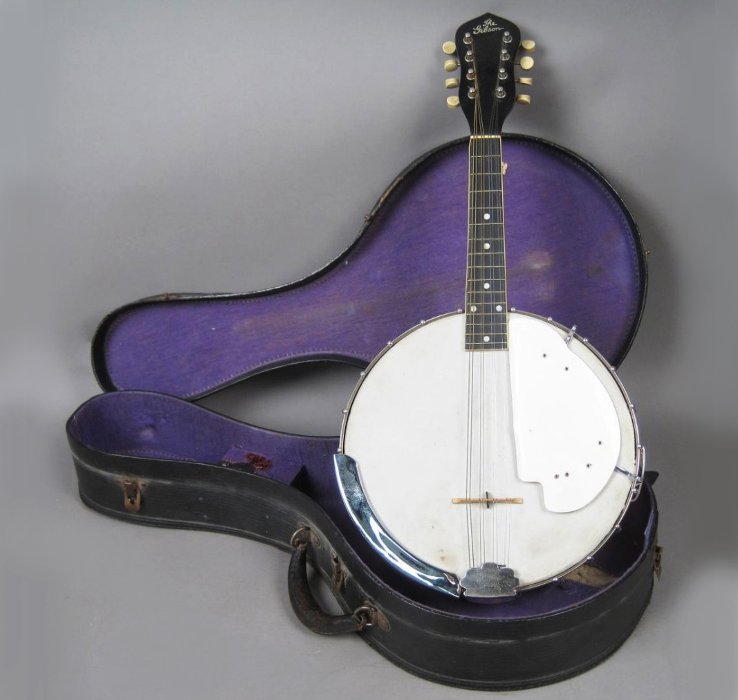 Antique Cased 8 String Banjo