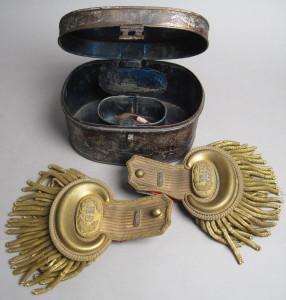 Antique Cased Military Dress Epaulettes