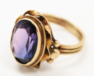 Buy Sell Jewelry Estate Gold Amethyst Ring Saratoga New York NY