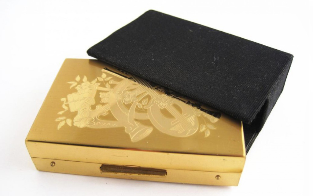 Vintage Gold Compact: Costume jewelry & accessories