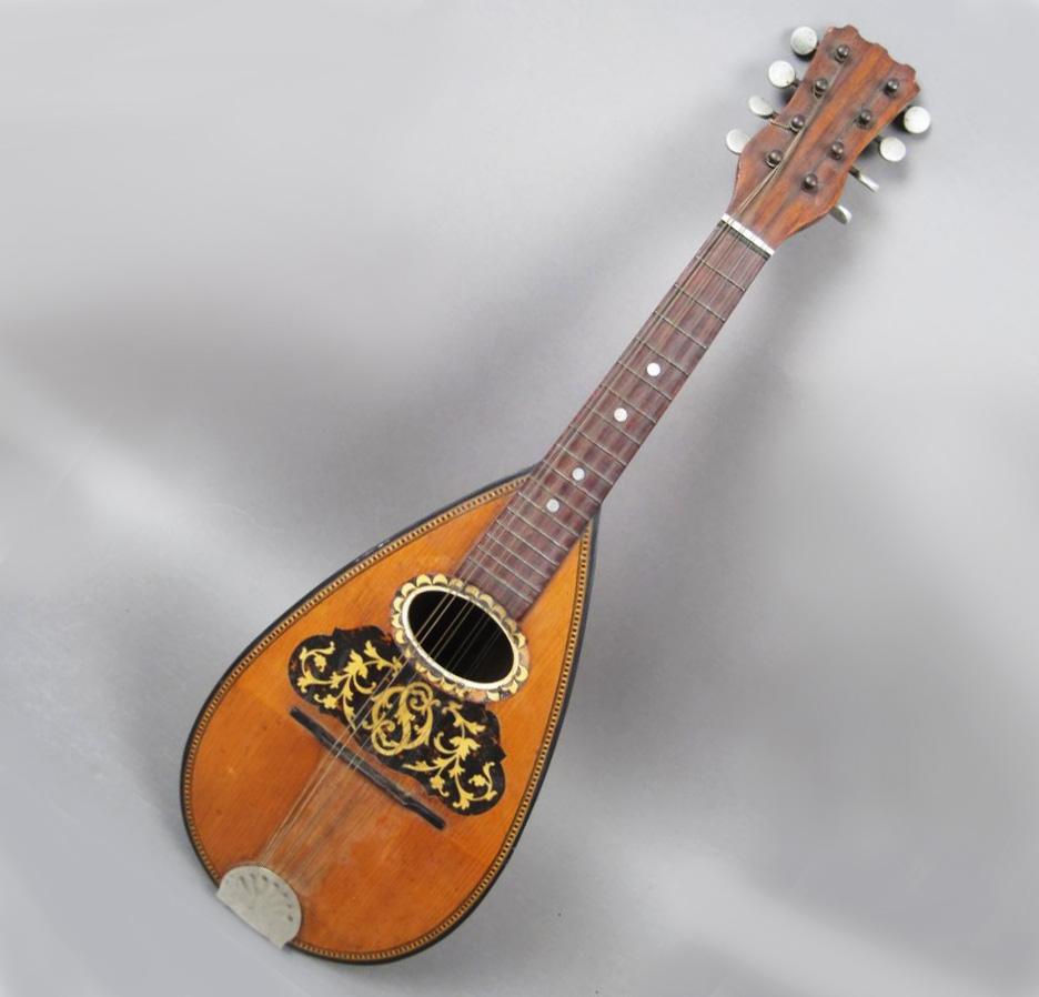 Antique 8 String Gourd Mandolin