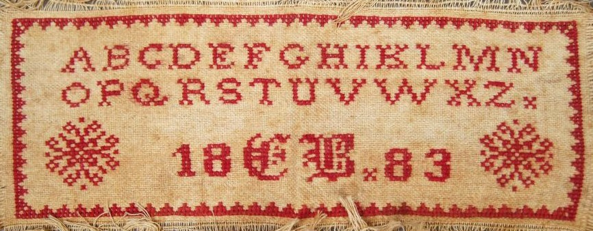 Antique Sampler Textile