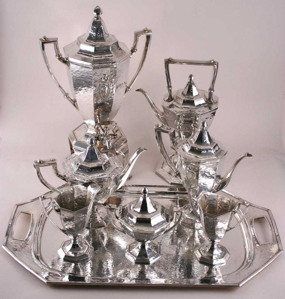 Antique Sheffield Tea Set Coffee Service: Flatware & Hollowware