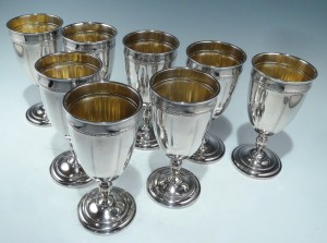 Antique Towle Sterling Silver Goblet Set