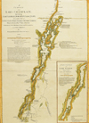 1776 William Brassier Survey of Lake Champlain, Lake George, Crown Point and St. John Map $5750