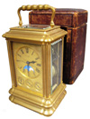 Henry Capt Bronze Dore Oversized Carriage Clock with Moon Phases & Date Face
