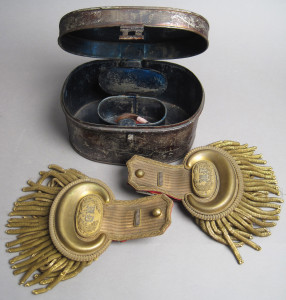 Antique Cased Military Dress Epaulettes