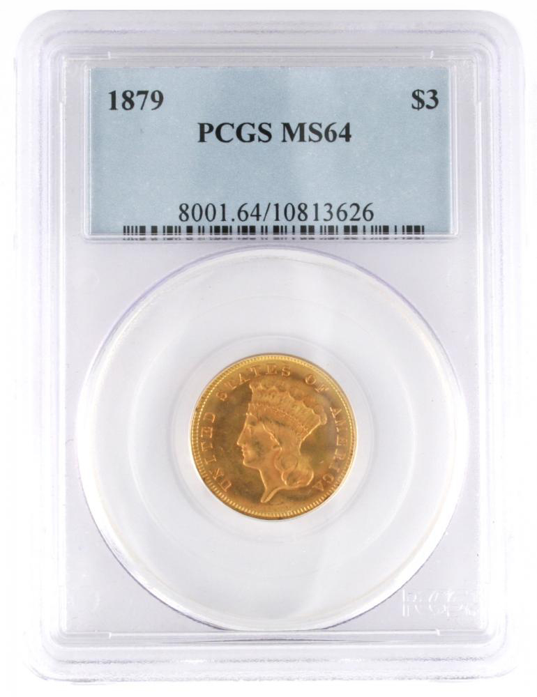 PCGS Graded United States of America 3 Dollar Gold Coin