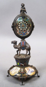 Enamel Camel Clock: antique decorative objects