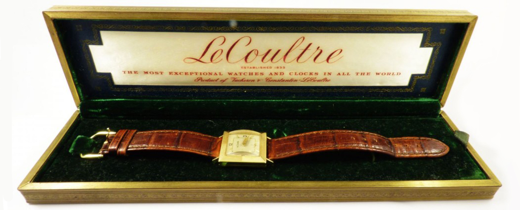 Vintage Leather and Gold LeCoultre Watch