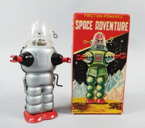 Vintage 1950s Tin Friction Japanese Toy Sci-Fi Space Adventure Robot MIB