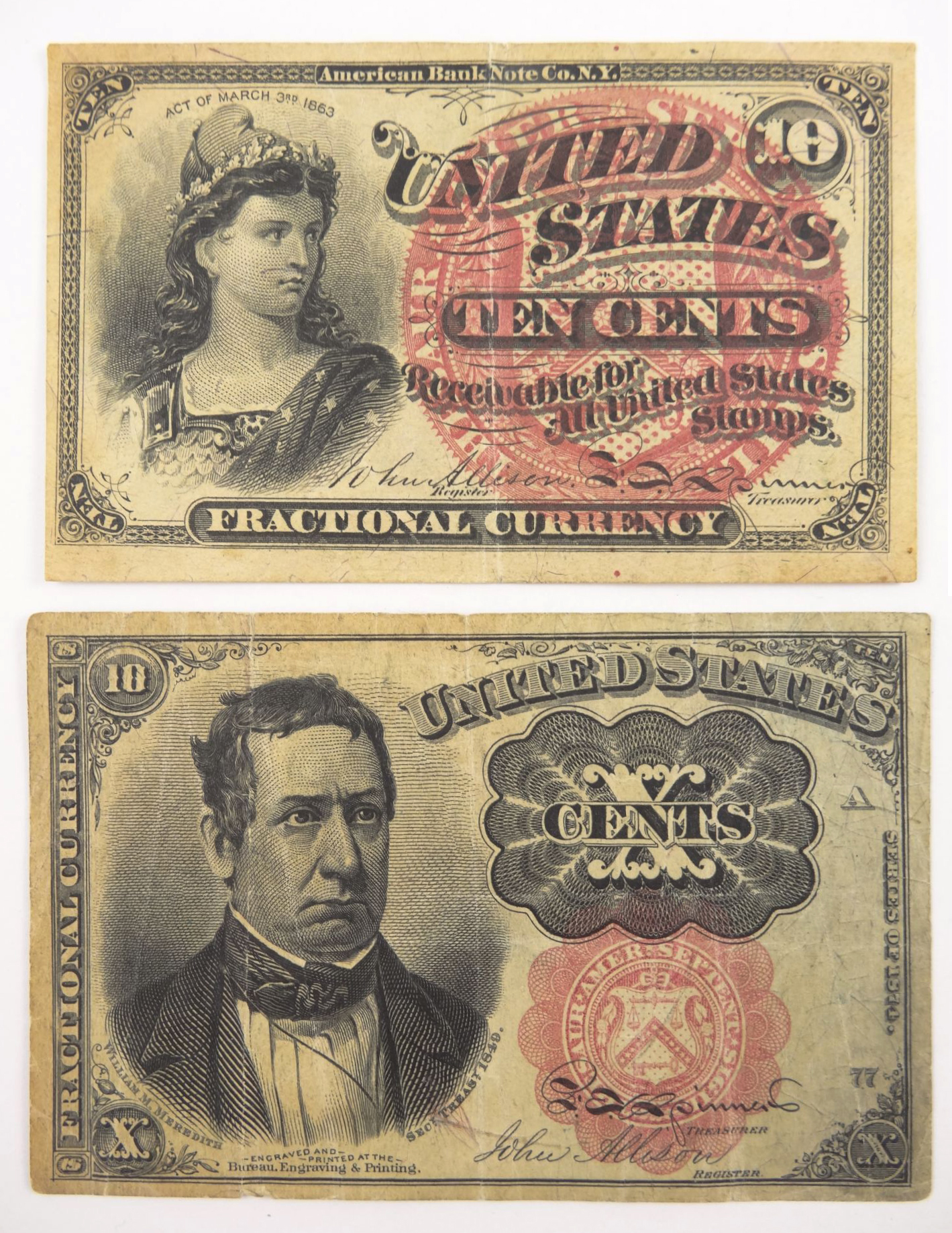 United States of America Fractional Currency