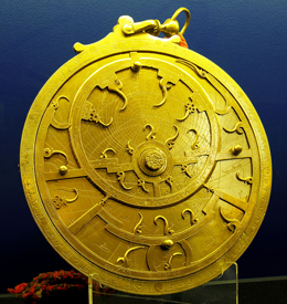 Antique 18th Century Persian Golden Astrolabe