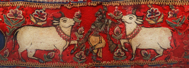 Antique Indian Embroidery of Rams