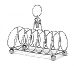 Chinese Export Silver Toast Rack mark of Wong Shing
