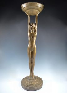 Nuart Art Deco Nude Figural Ash Tray Tobbaco