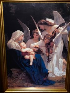 painting of angels and mary with jesus