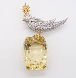"""Jena Schlumberger for Tiffany & Co. """"Bird on a Rock"""""""