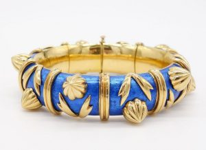 Blue Enamel and 18K by Jean Schlumberger for Tiffany & Co.