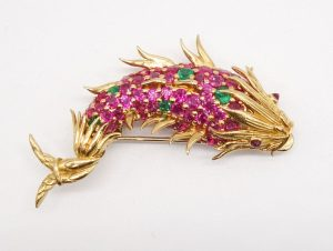 """""""Dolphin Fish"""" Brooch by Jean Schlumberger for Tiffany & Co."""