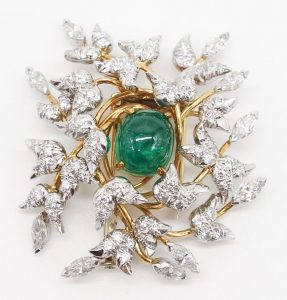 Emerald and Diamond Brooch by Jean Schlumberger for Tiffany & Co.