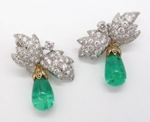 Emerald and Diamond Earrings by Jean Schlumberger for Tiffany & Co.