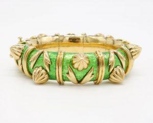 Green Enamel and 18K Bracelet by Jean Schlumberger for Tiffany & Co.