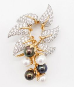 Pearl and Diamond Brooch by Jean Schlumberger for Tiffany & Co.