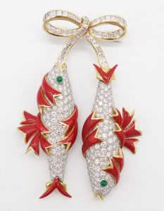 Poissons Brooch by Jean Schlumberger for Tiffany & Co.