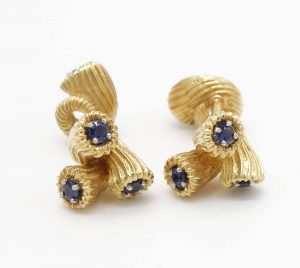 Sapphire and 18K Cufflinks by Jean Schlumberger for Tiffany & Co.