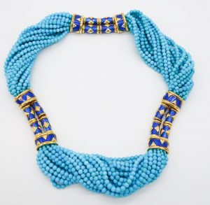 Turquoise and Enamel Necklace by Jean Schlumberger for Tiffany & Co.