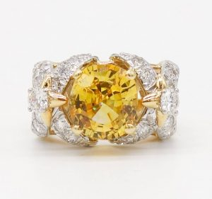 Yellow Sapphire and Diamond Ring by Jean Schlumberger for Tiffany & Co.