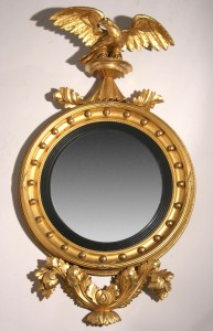 Round Federal Eagle Bullseye Mirror: exceptional furniture