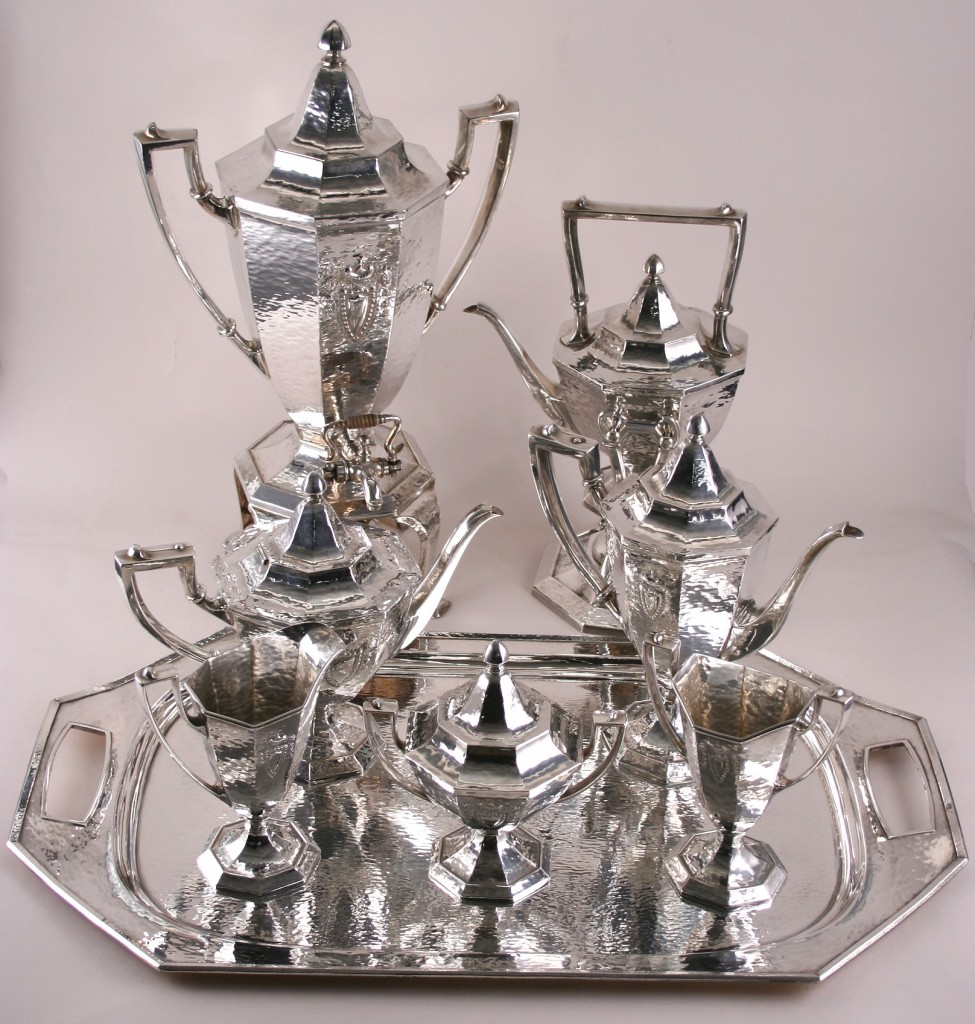 Antique Sheffield Tea Set Coffee Service: Flatware & Hollowware