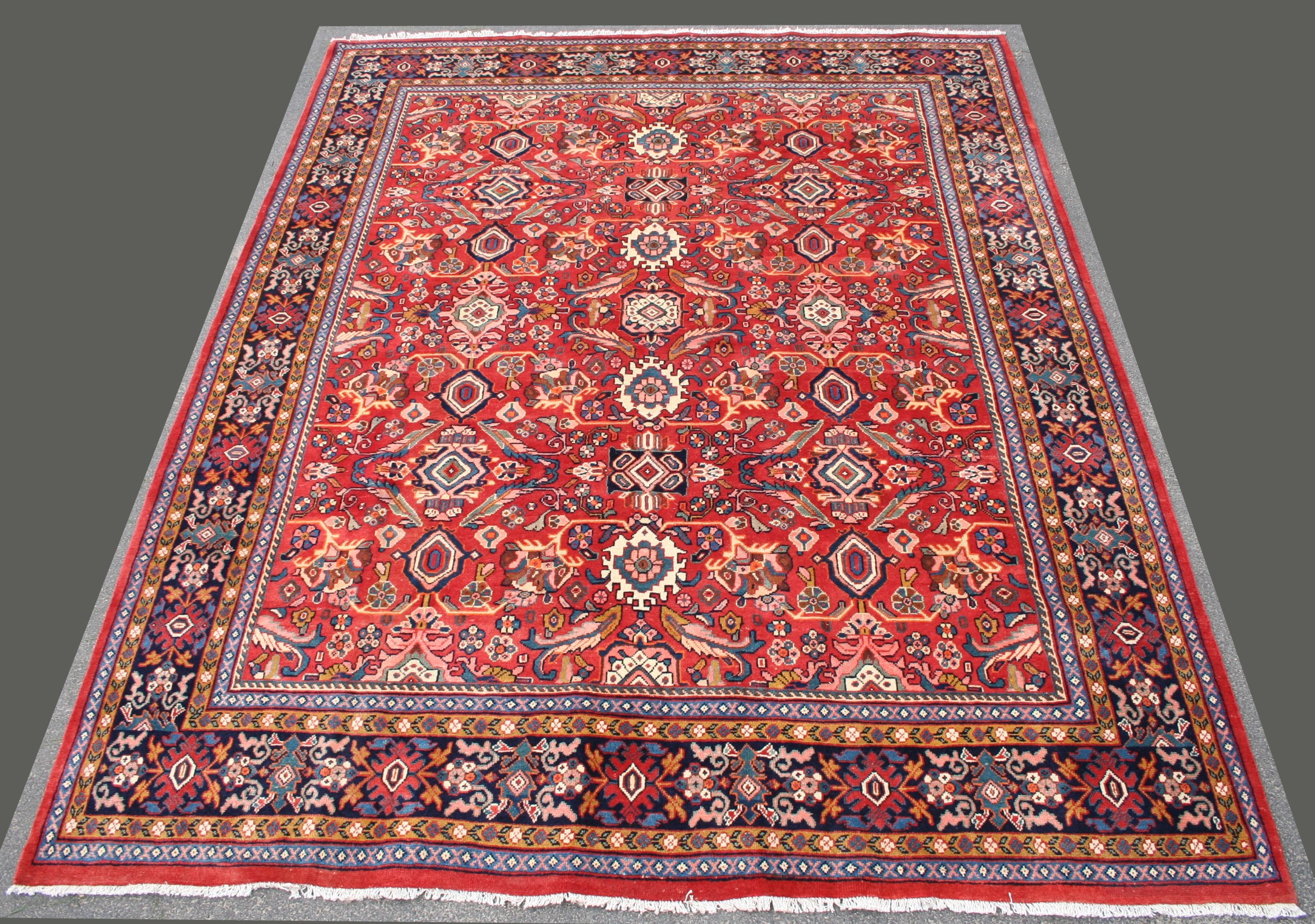 Antique Woven Middle Eastern Wool Rug