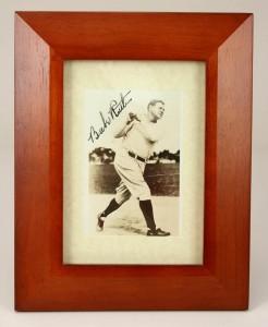Signed Babe Ruth Photo