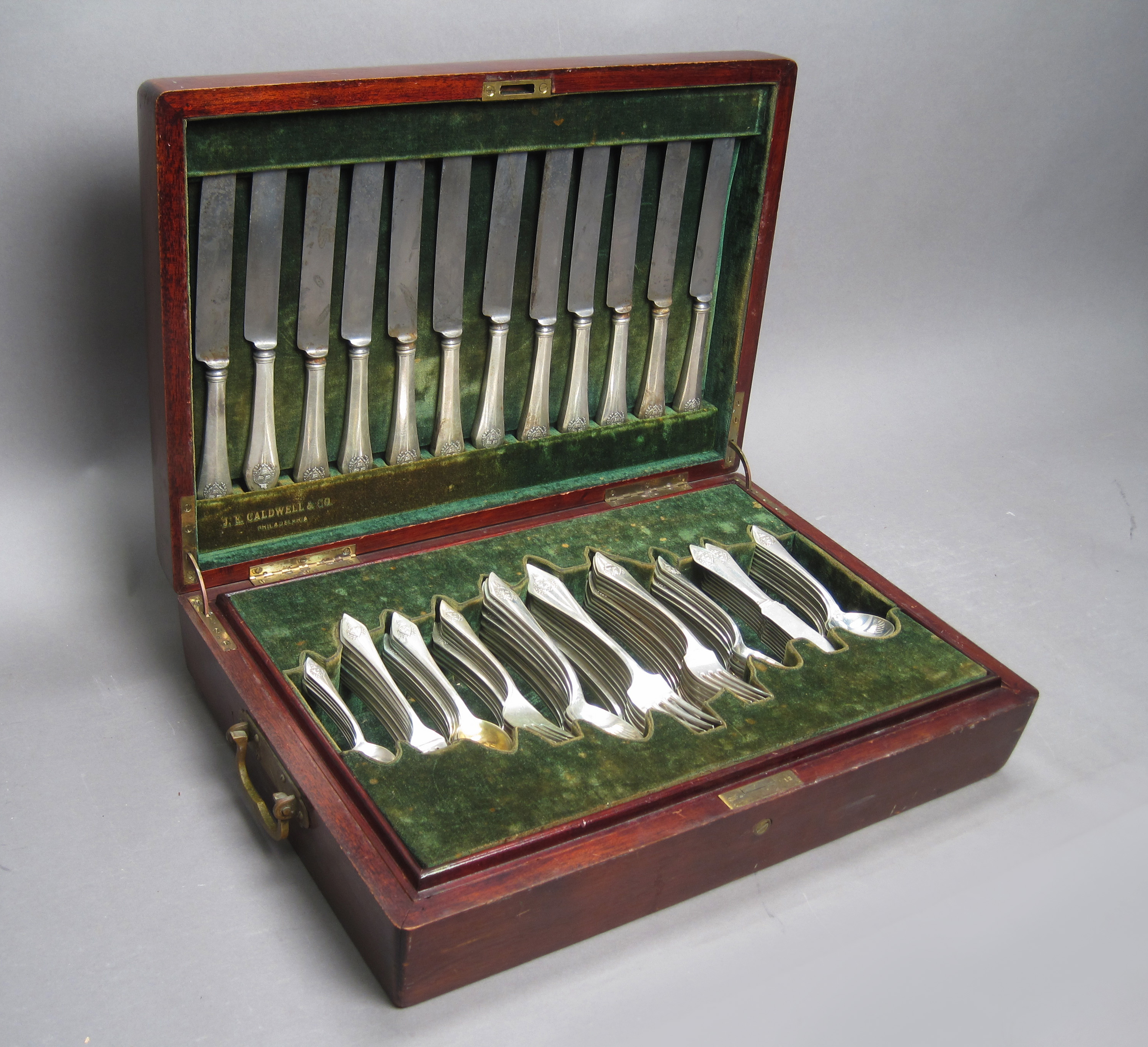 Antique Sterling Silver Cased Flatware