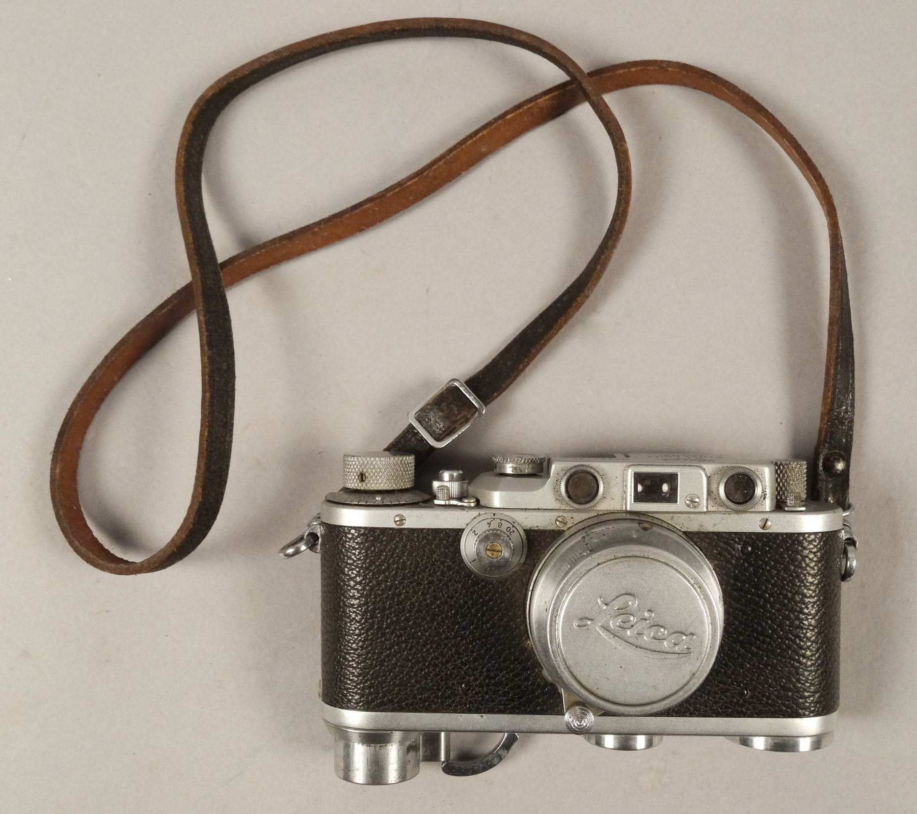 Vintage Leica Leather Strapped Film Camera
