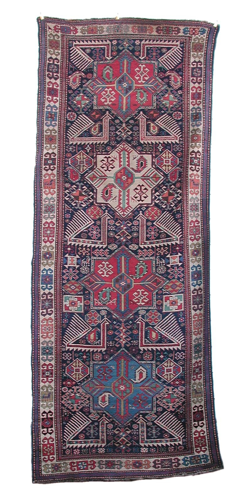 Antique Akstafa Woven Wool Rug