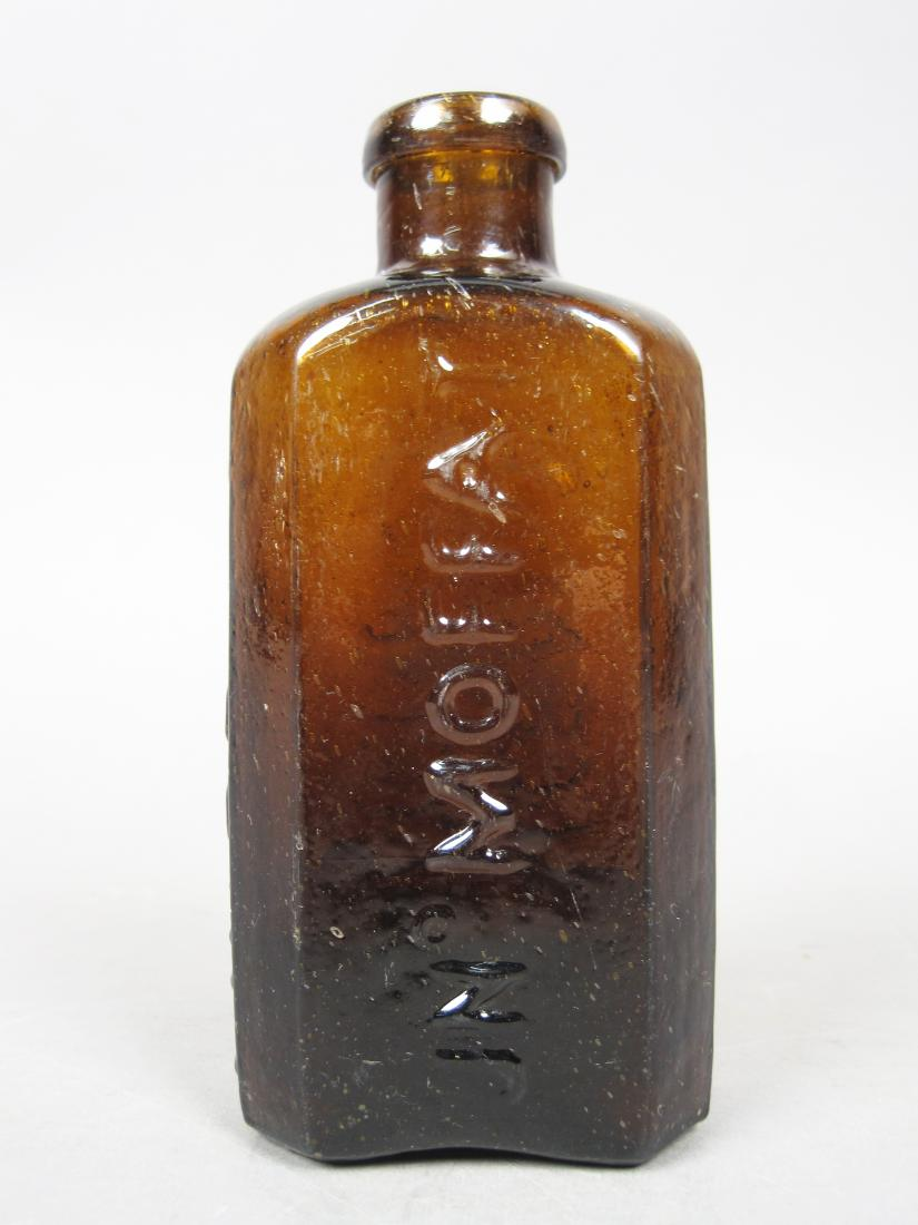 Old Antique American Collectible Brown Glass Water Bottle