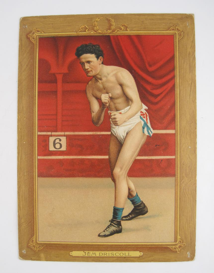 Antique Jem Driscoll Boxing Painted Cigarette Card
