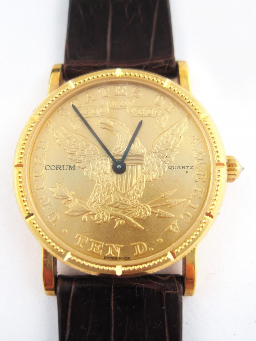 Vintage Corum Quartz Movement Gold Coin Watch Dial