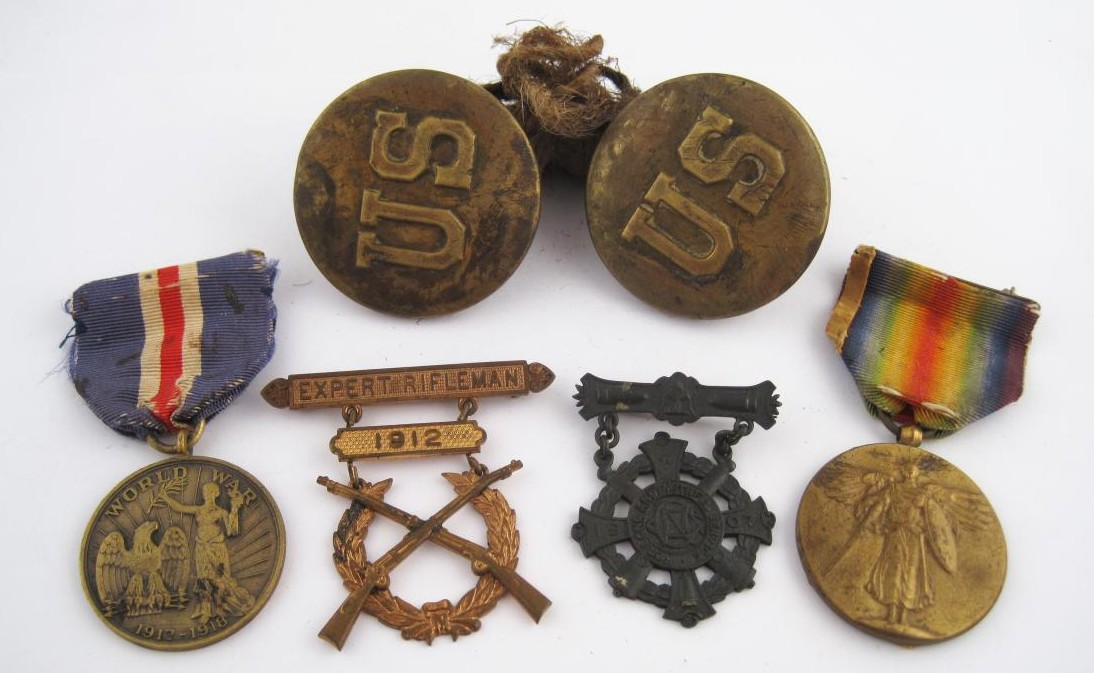 Various Antique and Vintage Battle Medals and War Insignia