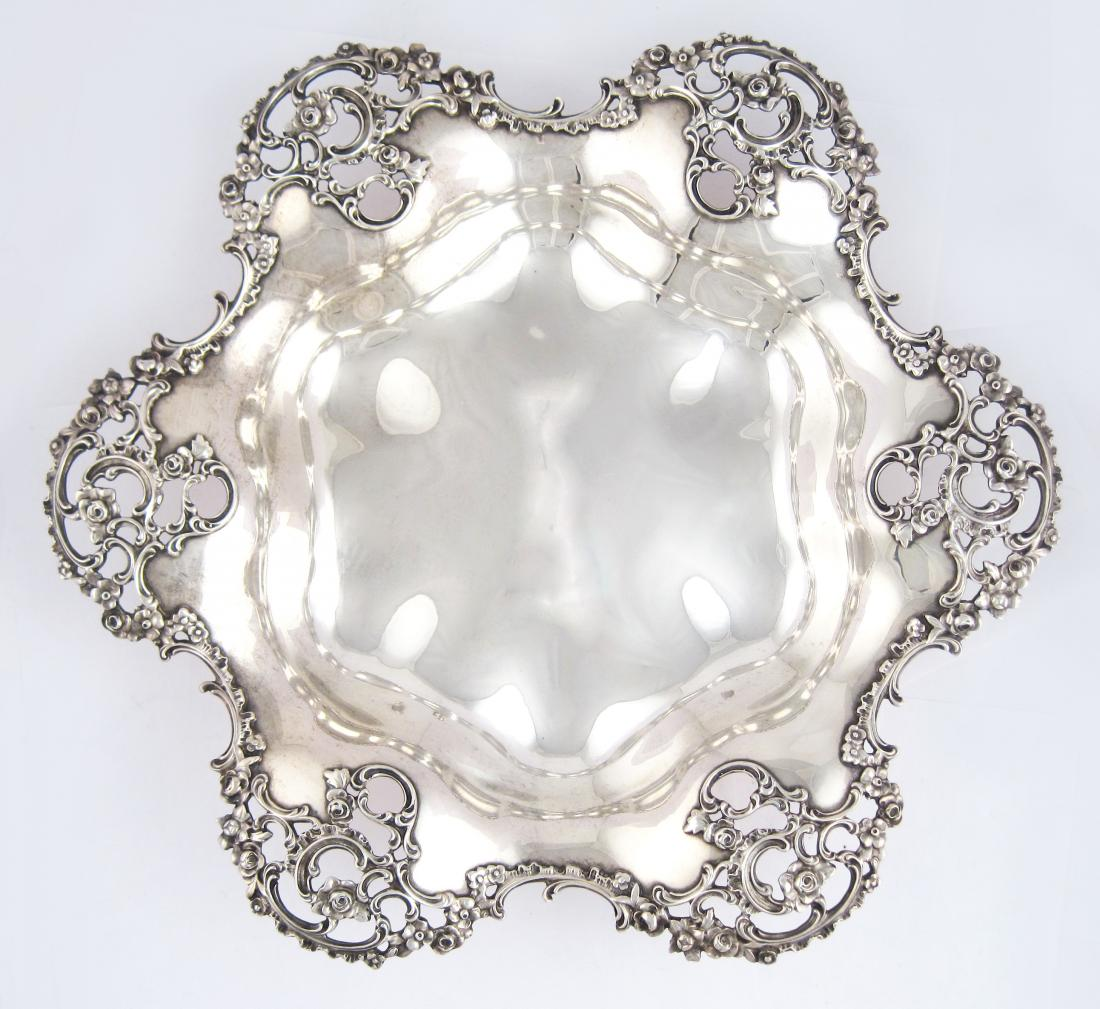 Antique Ornate Sterling Silver Dish